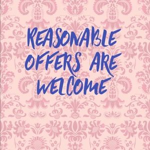Other - Reasonable offers are welcome 🤩
